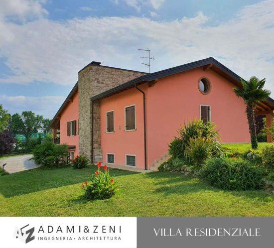 Progettazione e direzione lavoria una villa a Verona